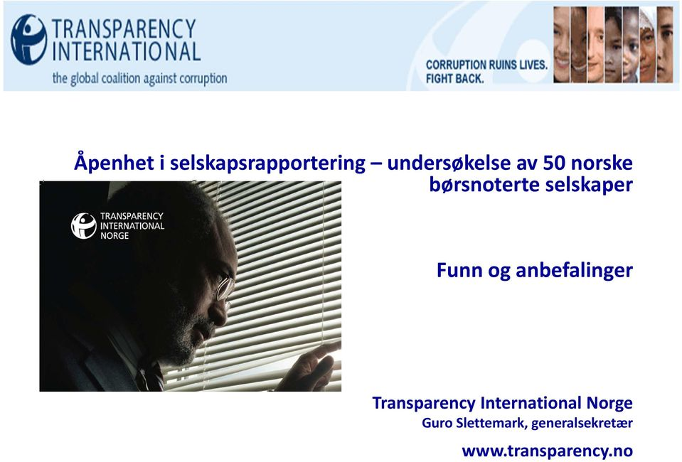 anbefalinger Transparency International Norge