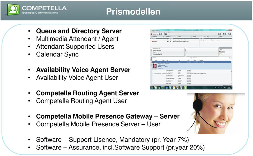Competella Routing Agent User Competella Mobile Presence Gateway Server Competella Mobile Presence