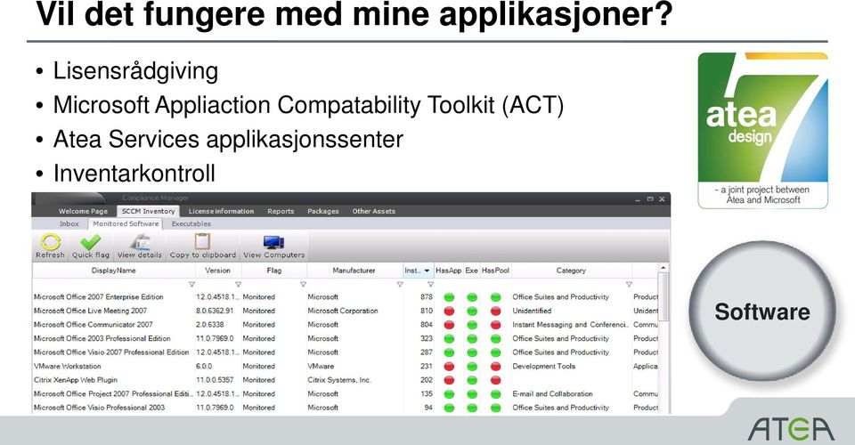 Compatability Toolkit (ACT) Atea