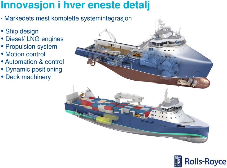 LNG engines Propulsion system Motion control