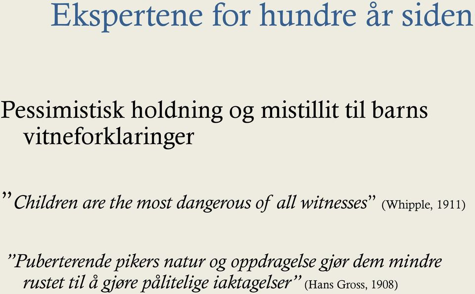 witnesses (Whipple, 1911) Puberterende pikers natur og oppdragelse