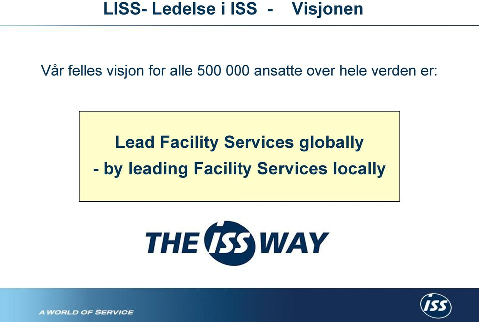 verden er: Lead Facility Services