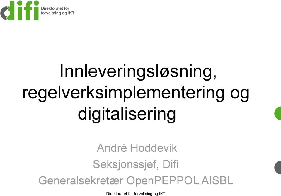 digitalisering André Hoddevik