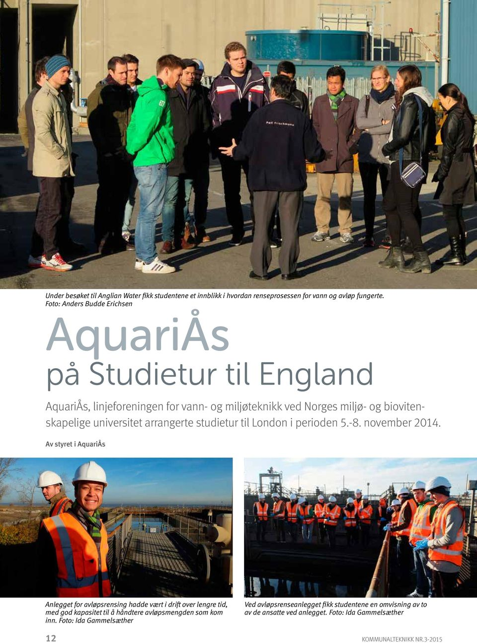 universitet arrangerte studietur til London i perioden 5.-8. november 2014.