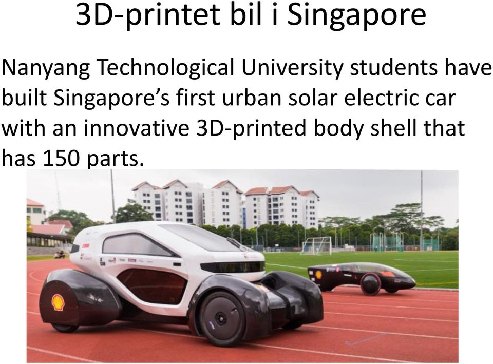 Singapore s first urban solar electric car