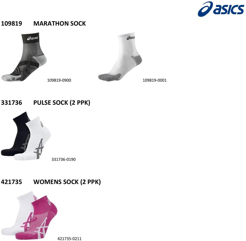 PULSE SOCK (2 PPK) 331736-0190