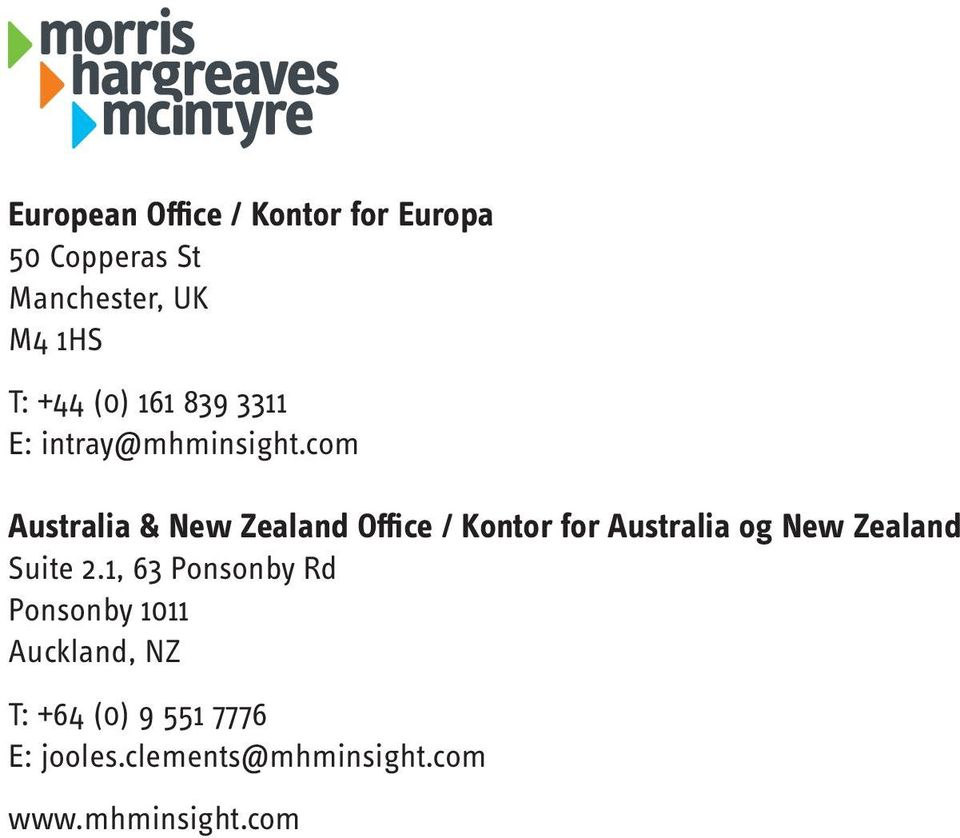 com Australia & New Zealand Office / Kontor for Australia og New Zealand Suite