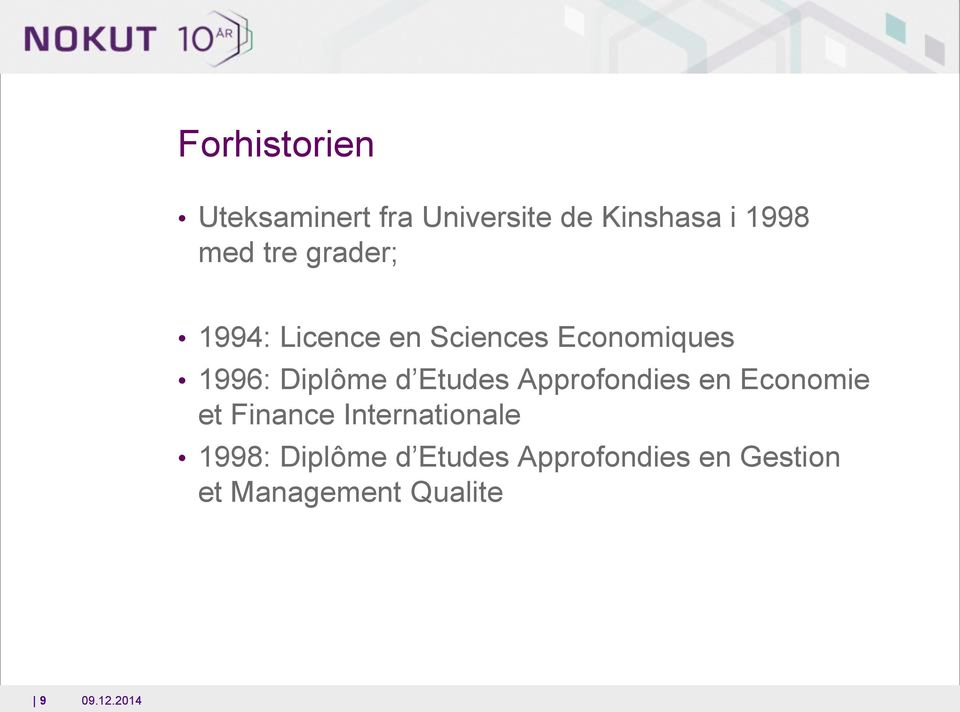Etudes Approfondies en Economie et Finance Internationale 1998: