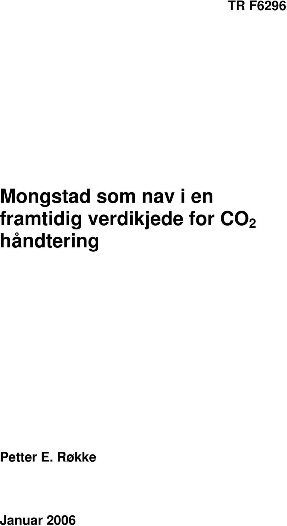 for CO 2 håndtering