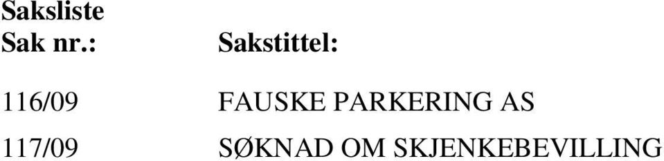 FAUSKE PARKERING AS