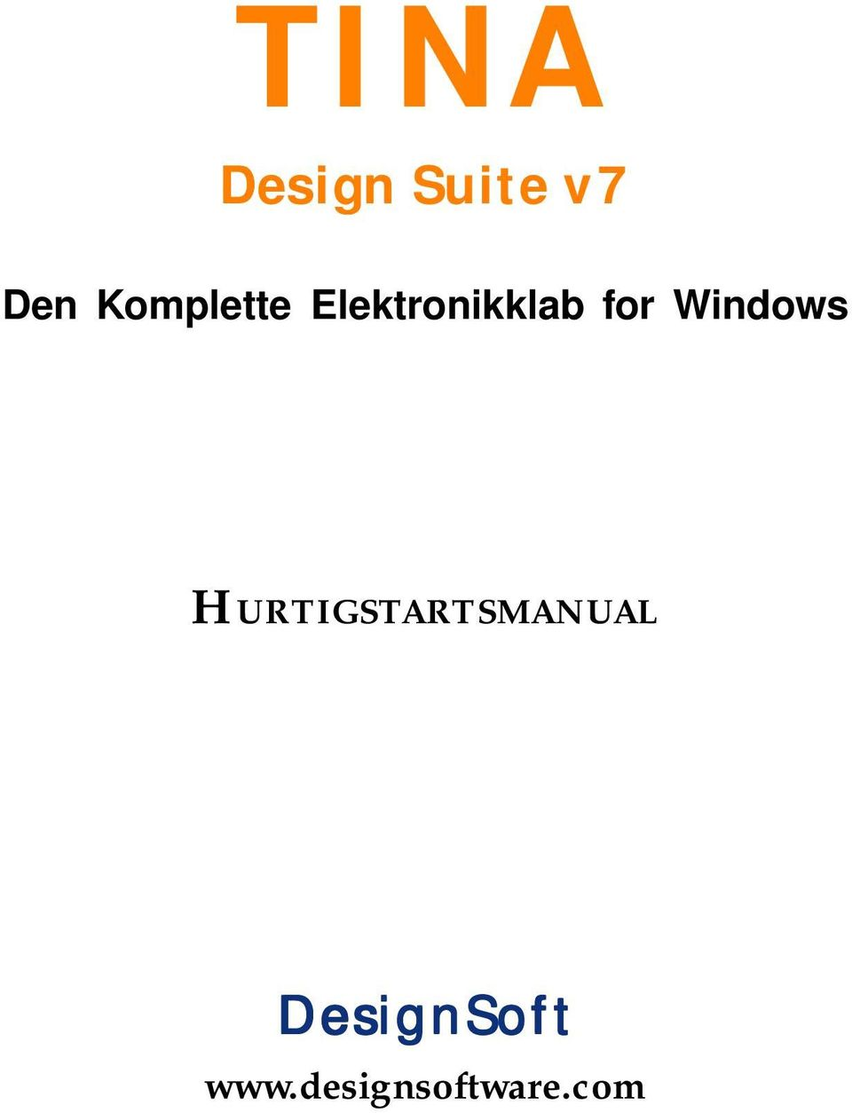 Windows HURTIGSTARTSMANUAL