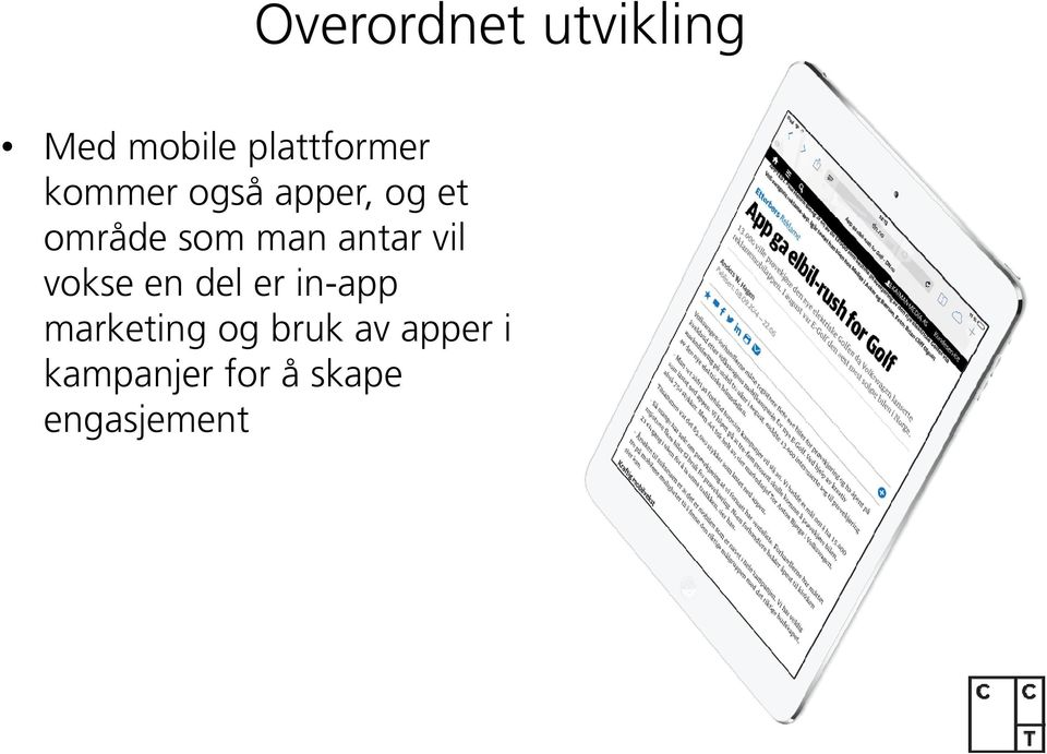 antar vil vokse en del er in-app marketing