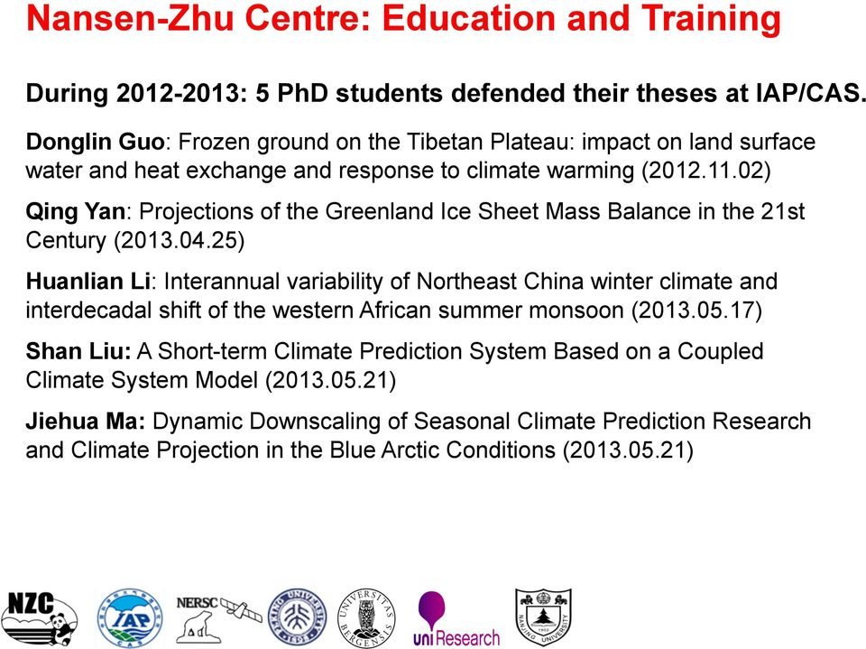 02) Qing Yan: Projections of the Greenland Ice Sheet Mass Balance in the 21st Century (2013.04.