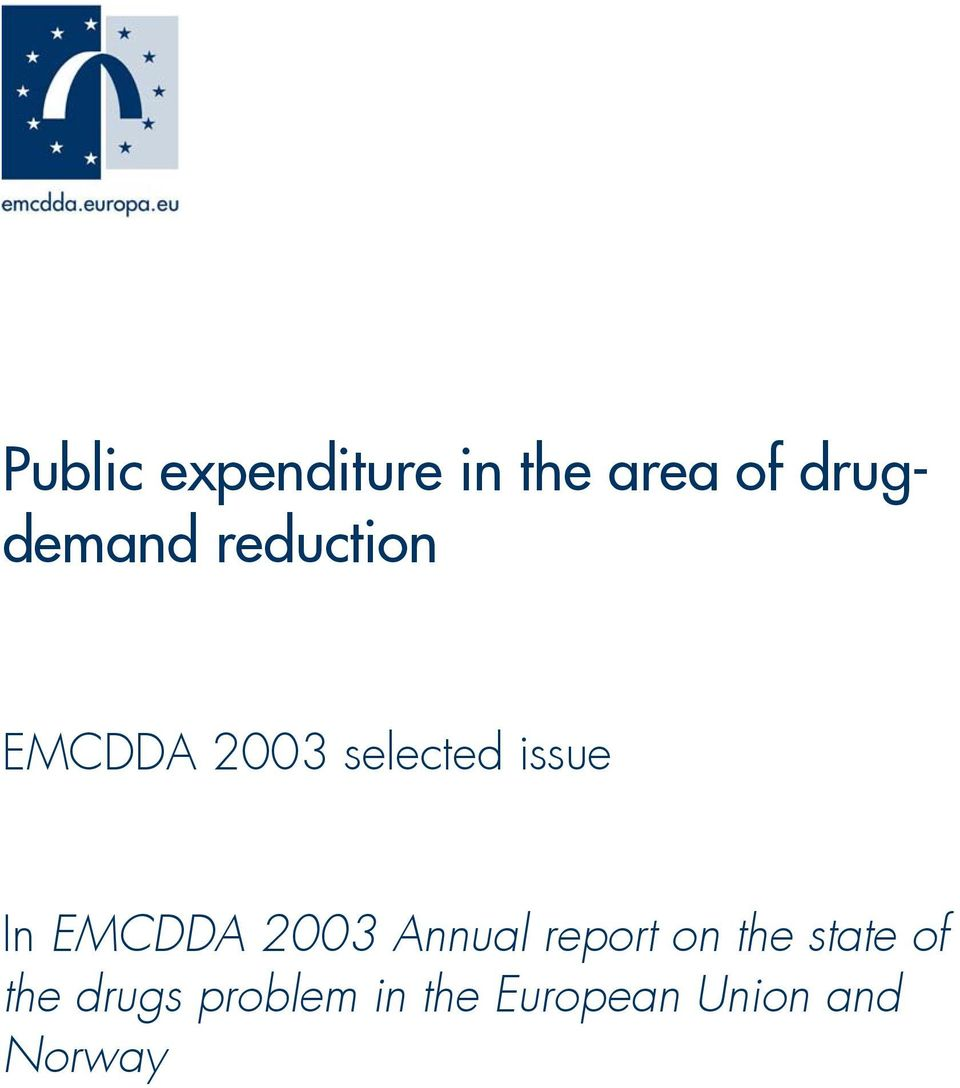 EMCDDA 2003 Annual report on the state of