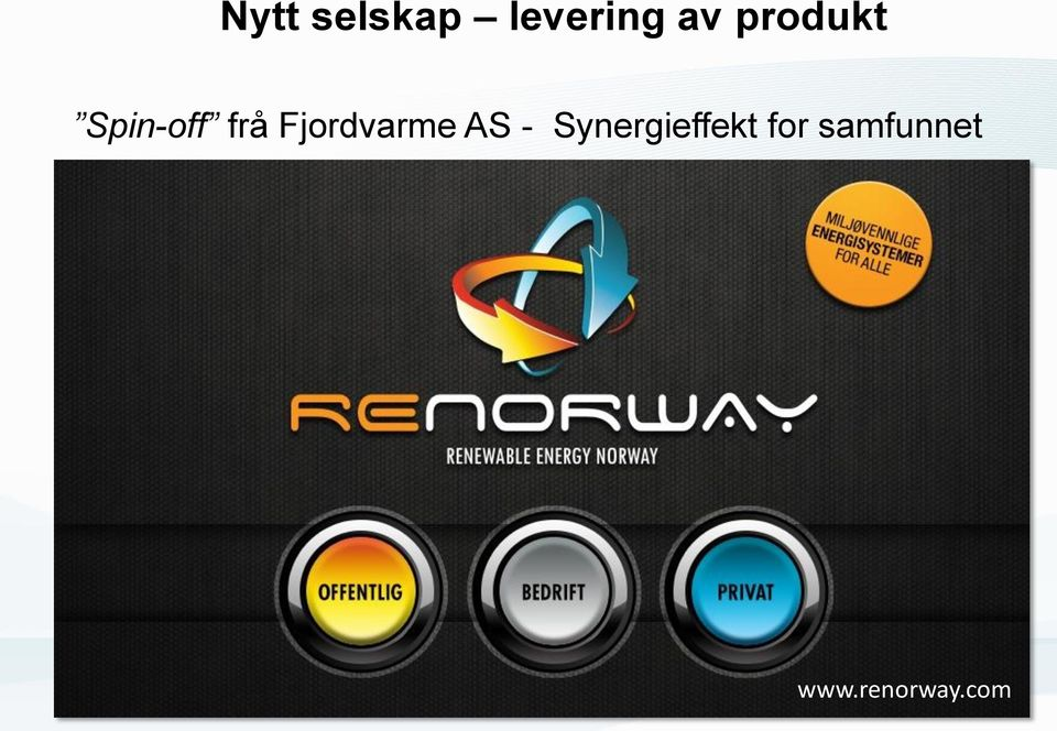 Fjordvarme AS -