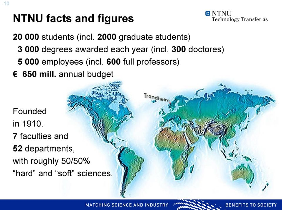 300 doctores) 5 000 employees (incl. 600 full professors) 650 mill.