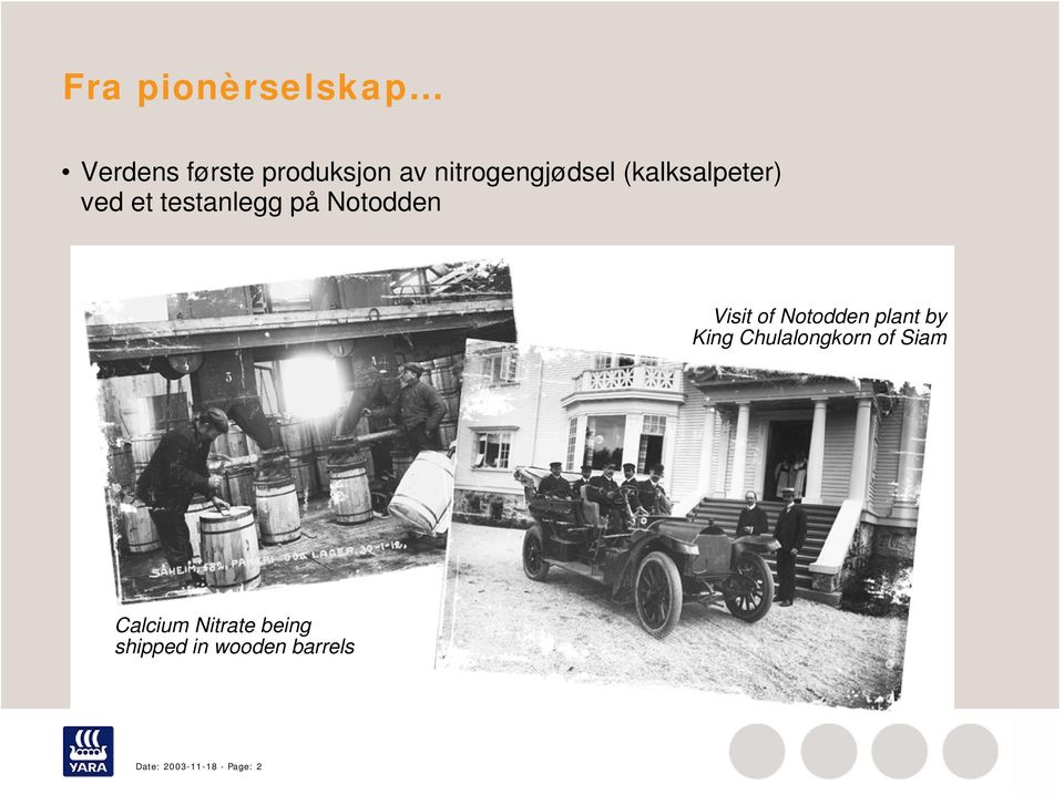 Notodden Visit of Notodden plant by King Chulalongkorn of