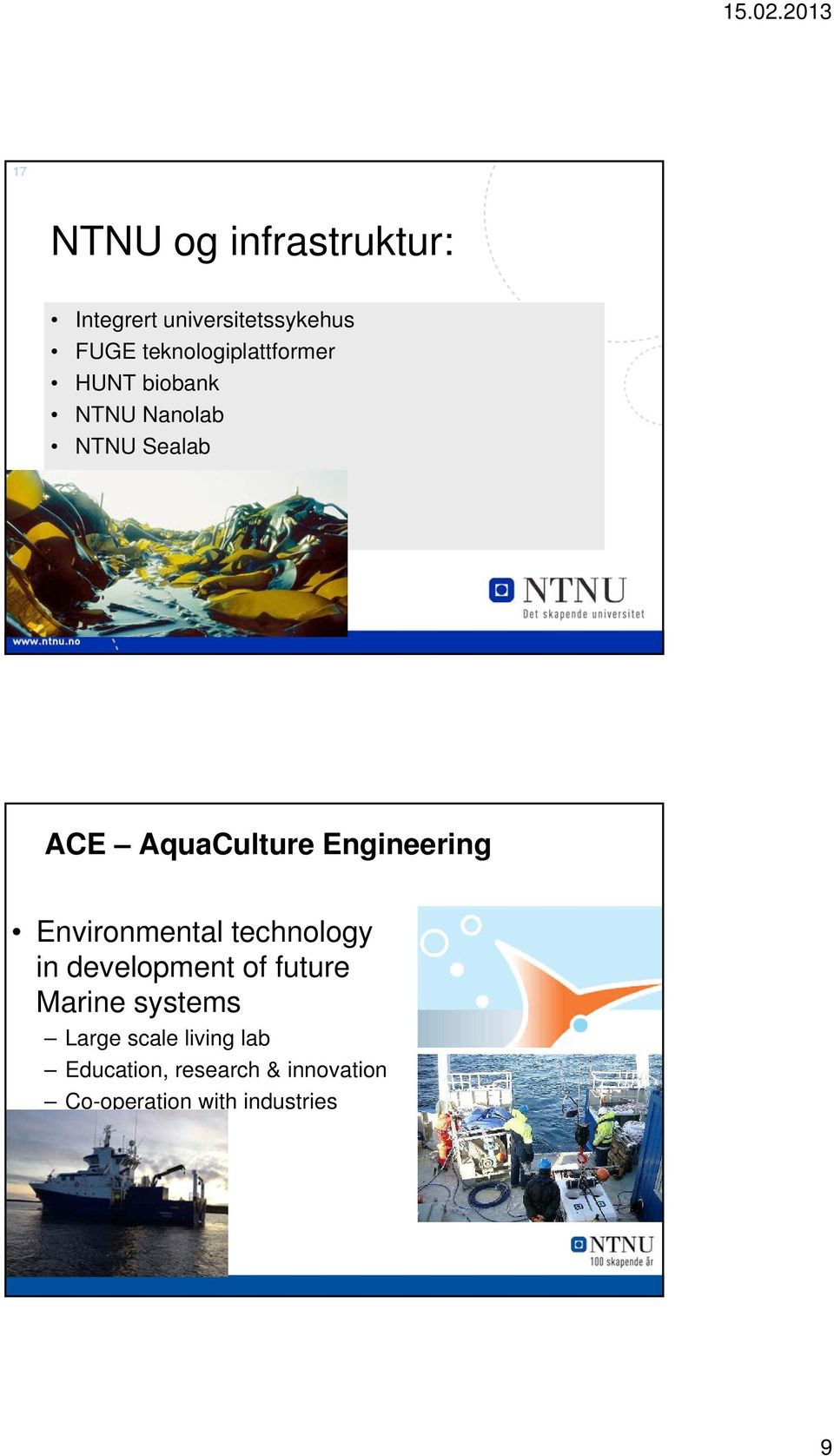 Engineering Environmental technology in development of future Marine
