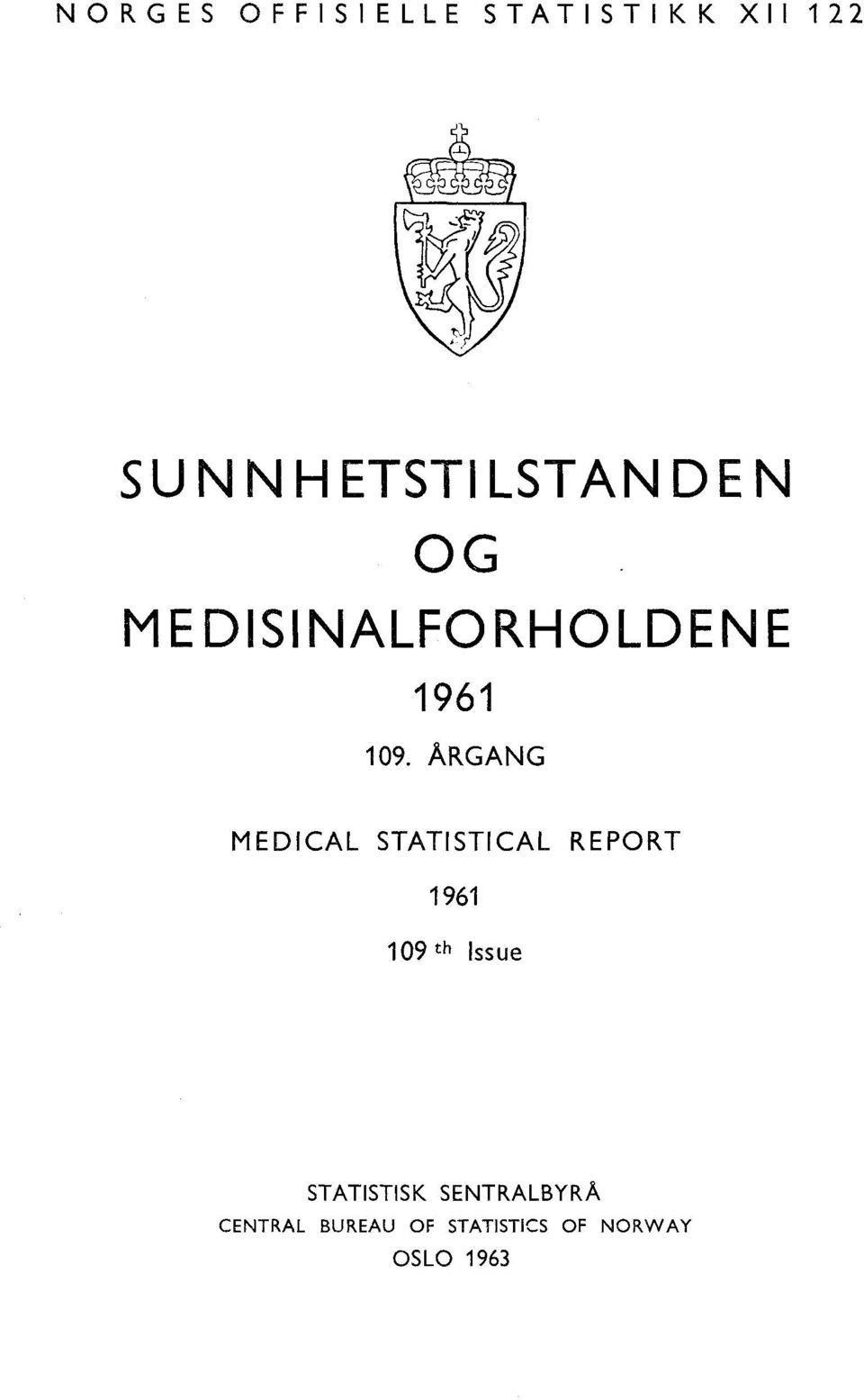 ARGANG MEDICAL STATISTICAL REPORT 96 09 th Issue