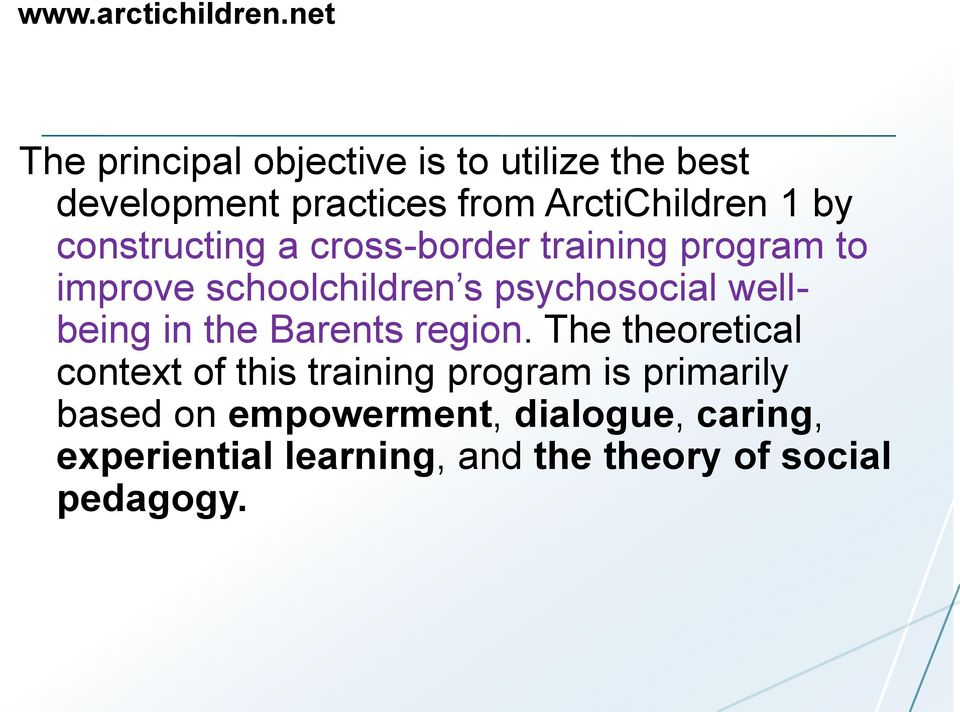 constructing a cross-border training program to improve schoolchildren s psychosocial wellbeing in