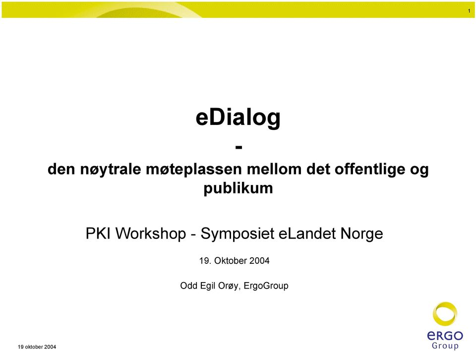 Workshop - Symposiet elandet Norge 19.