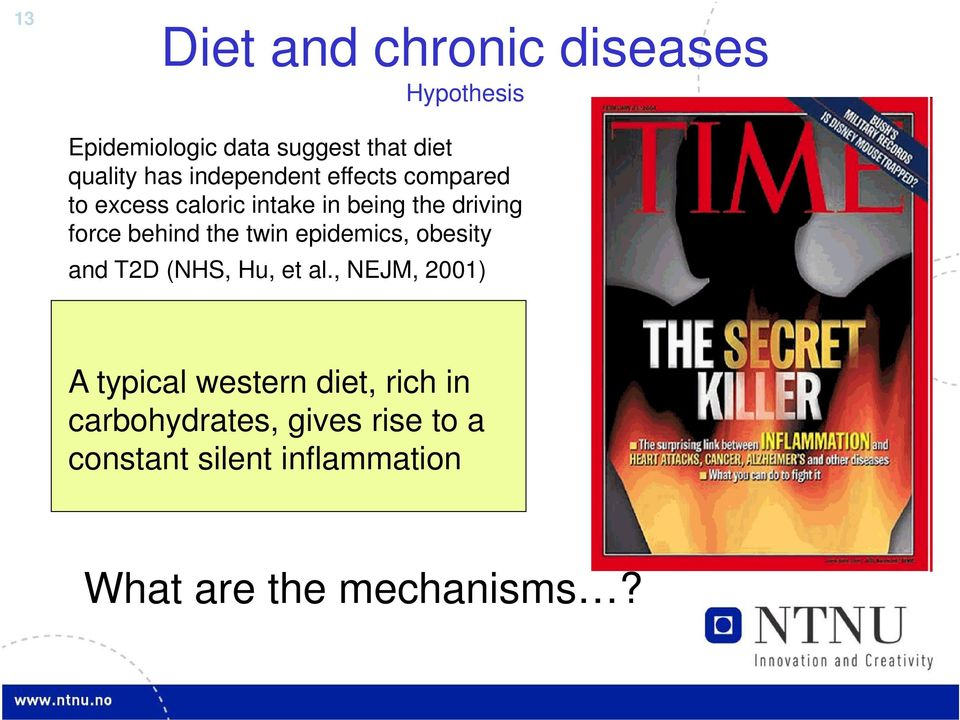 the twin epidemics, obesity and T2D (NHS, Hu, et al.