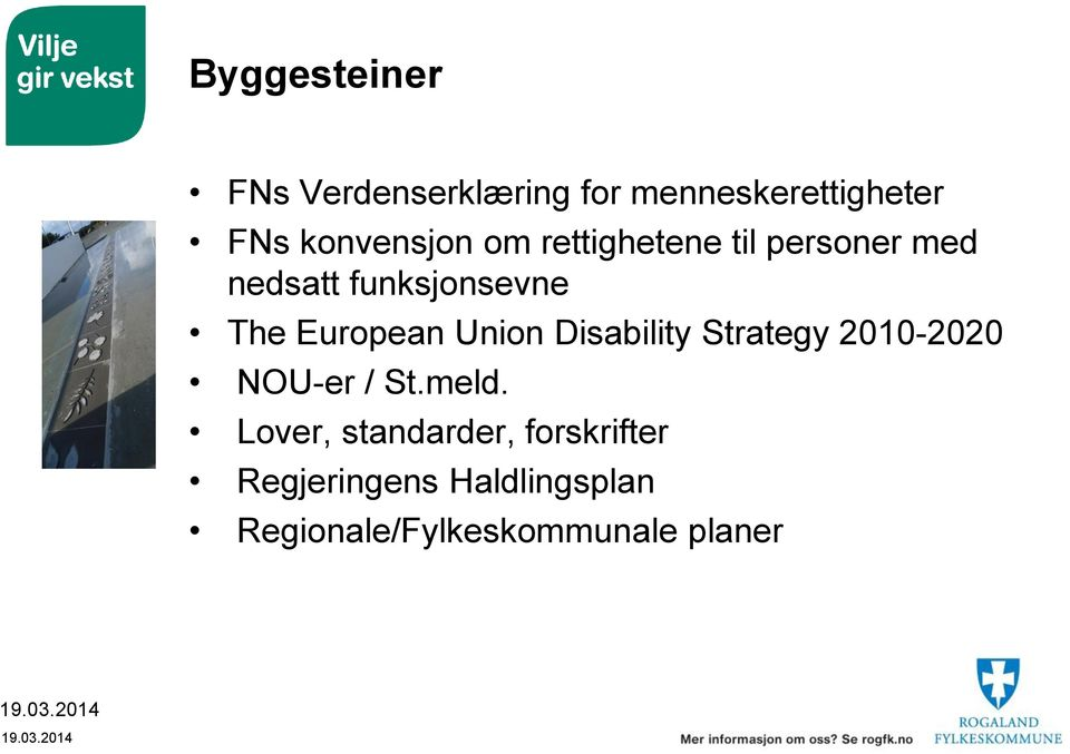 European Union Disability Strategy 2010-2020 NOU-er / St.meld.