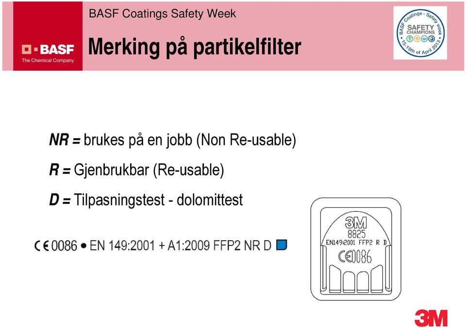 Re-usable) R = Gjenbrukbar