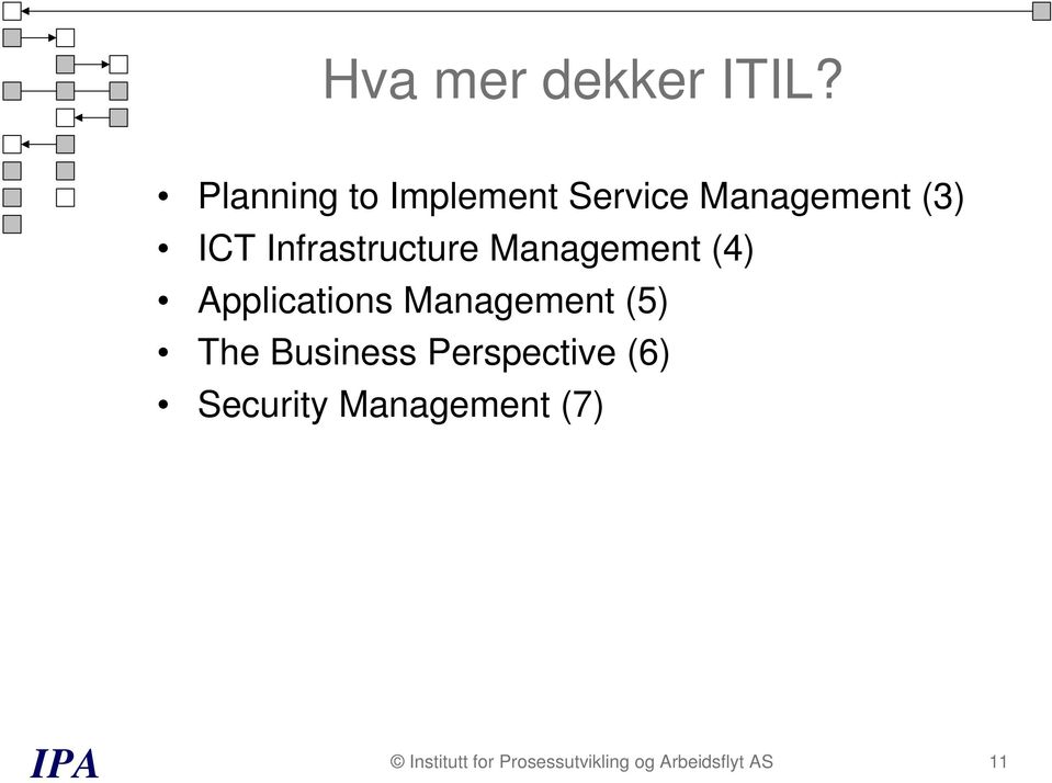 Infrastructure Management (4) Applications Management (5)