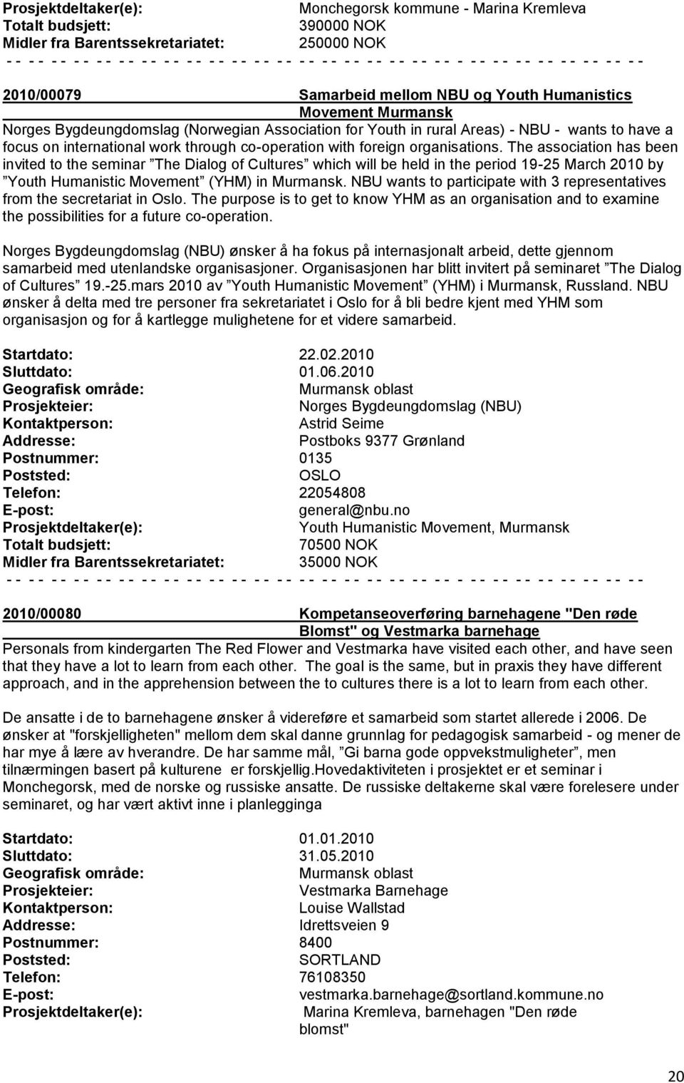 The association has been invited to the seminar The Dialog of Cultures which will be held in the period 19-25 March 2010 by Youth Humanistic Movement (YHM) in Murmansk.
