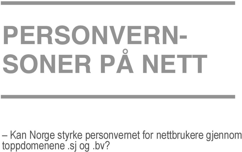 personvernet for