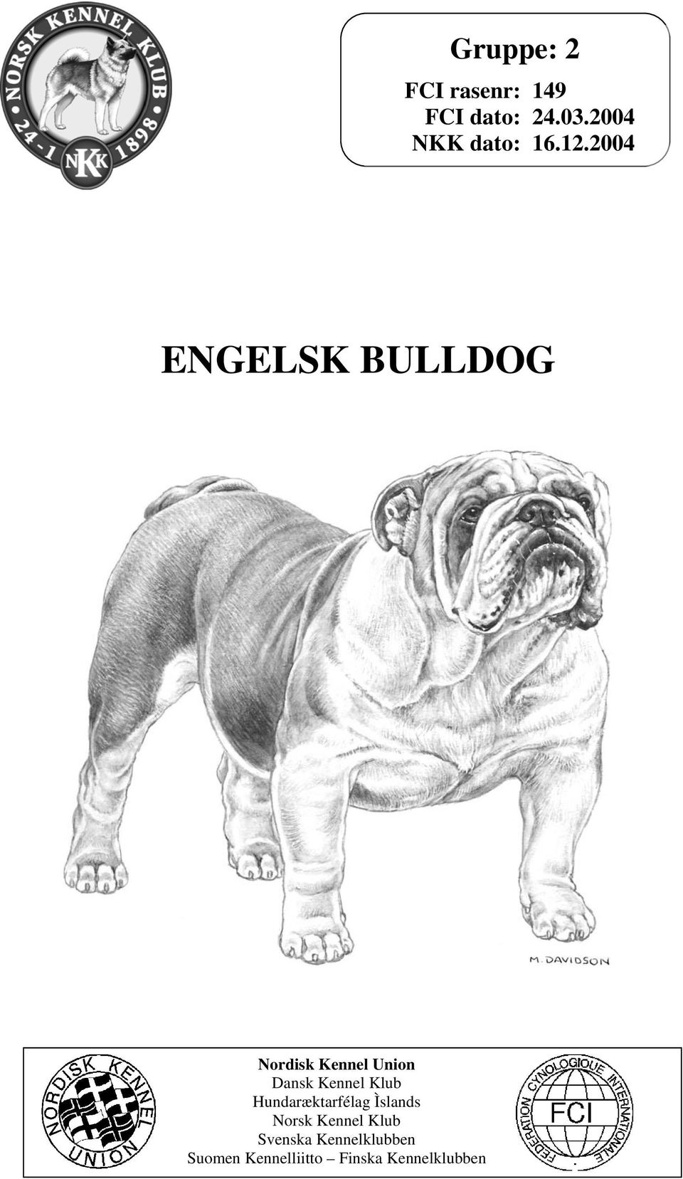 2004 ENGELSK BULLDOG Nordisk Kennel Union Dansk Kennel