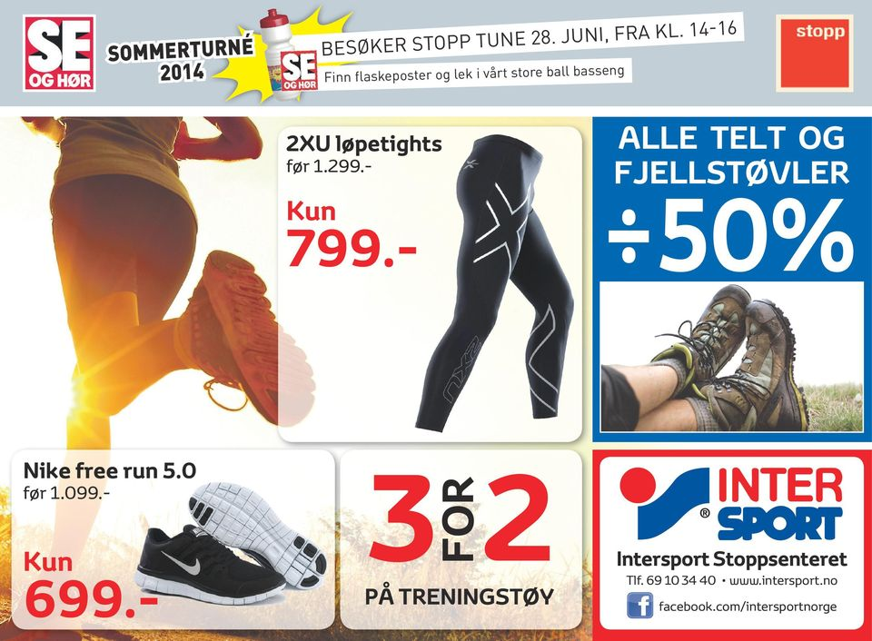5.0 på treningstøy Intersport Stoppsenteret Tlf.