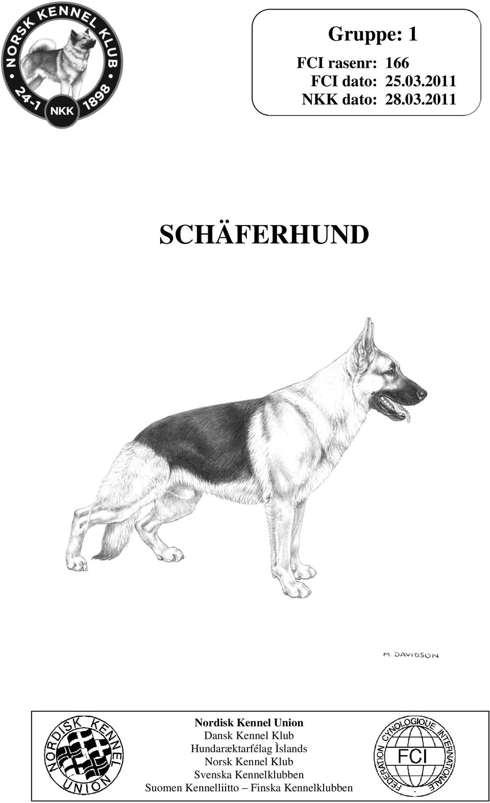 2011 SCHÄFERHUND Nordisk Kennel Union Dansk Kennel Klub