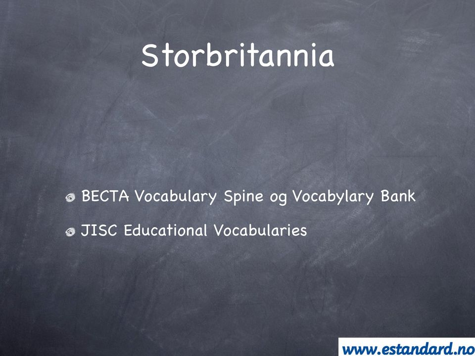 Vocabylary Bank JISC