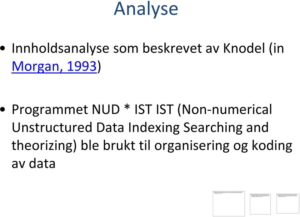 Knodel(in Morgan, 1993) ProgrammetNUD * IST IST (Non-numerical