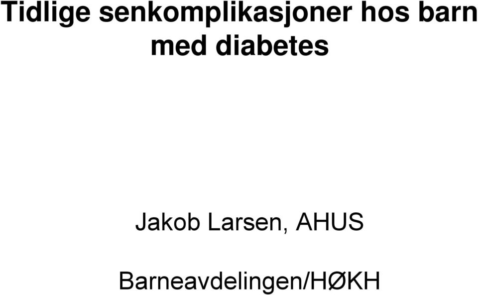 barn med diabetes