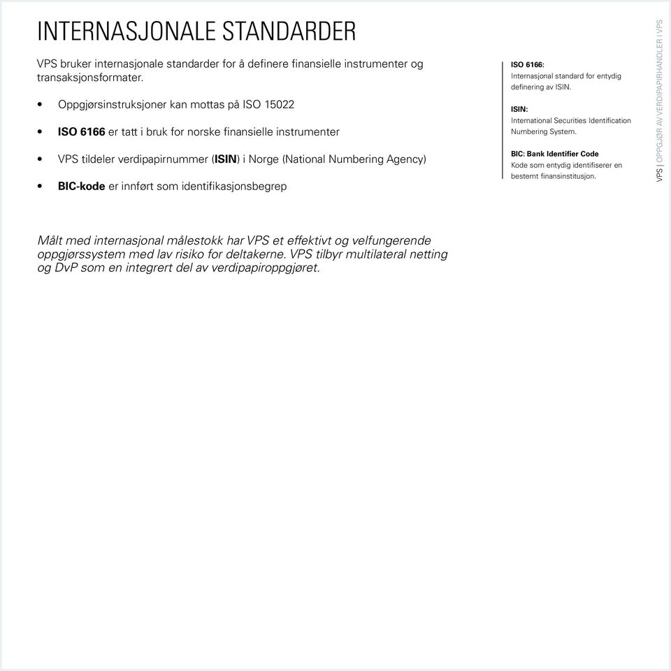 som identifikasjonsbegrep ISO 6166: Internasjonal standard for entydig definering av ISIN. ISIN: International Securities Identification Numbering System.