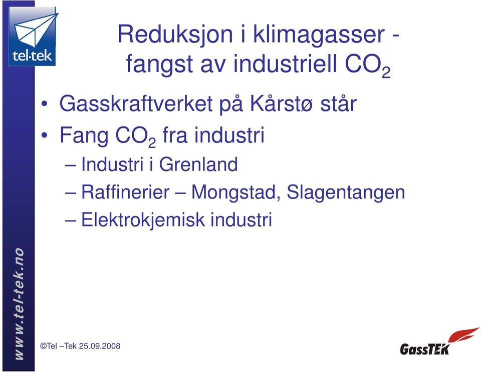 står Fang CO 2 fra industri Industri i