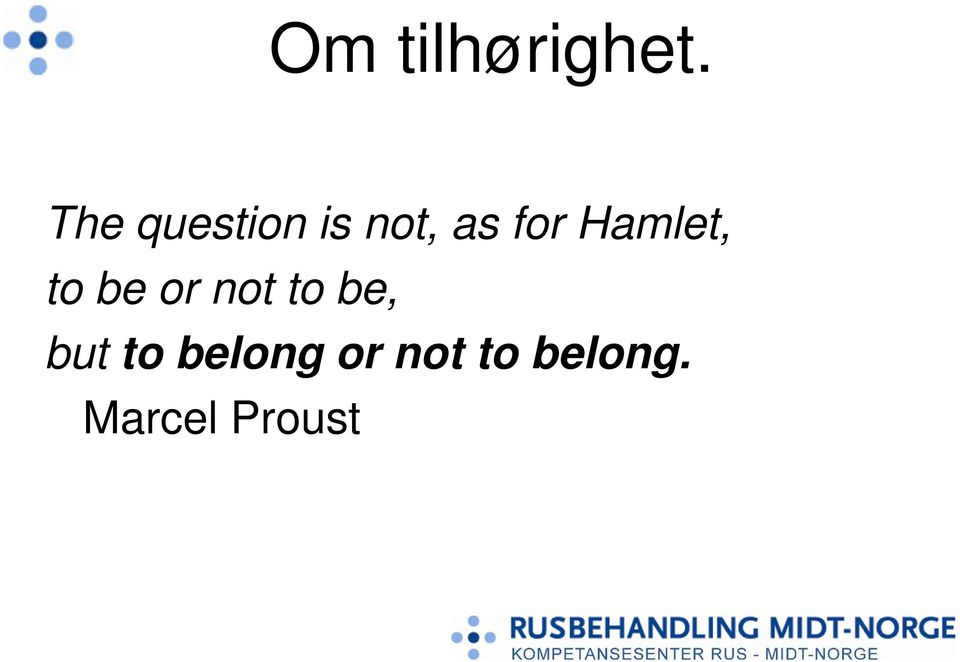 Hamlet, to be or not to be,