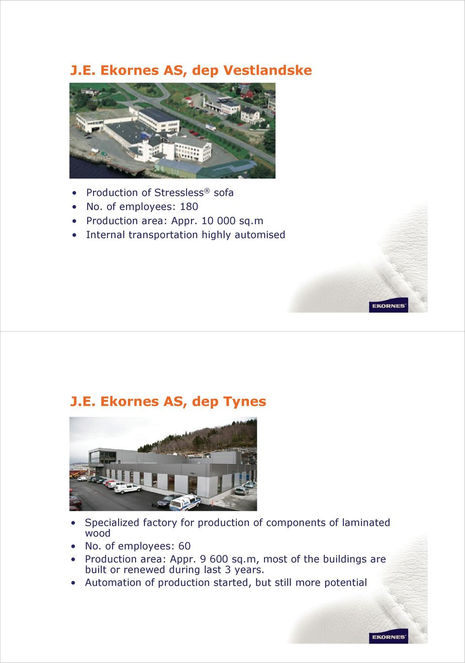 Ekornes AS, dep Tynes Specialized factory for production of components of laminated wood No.