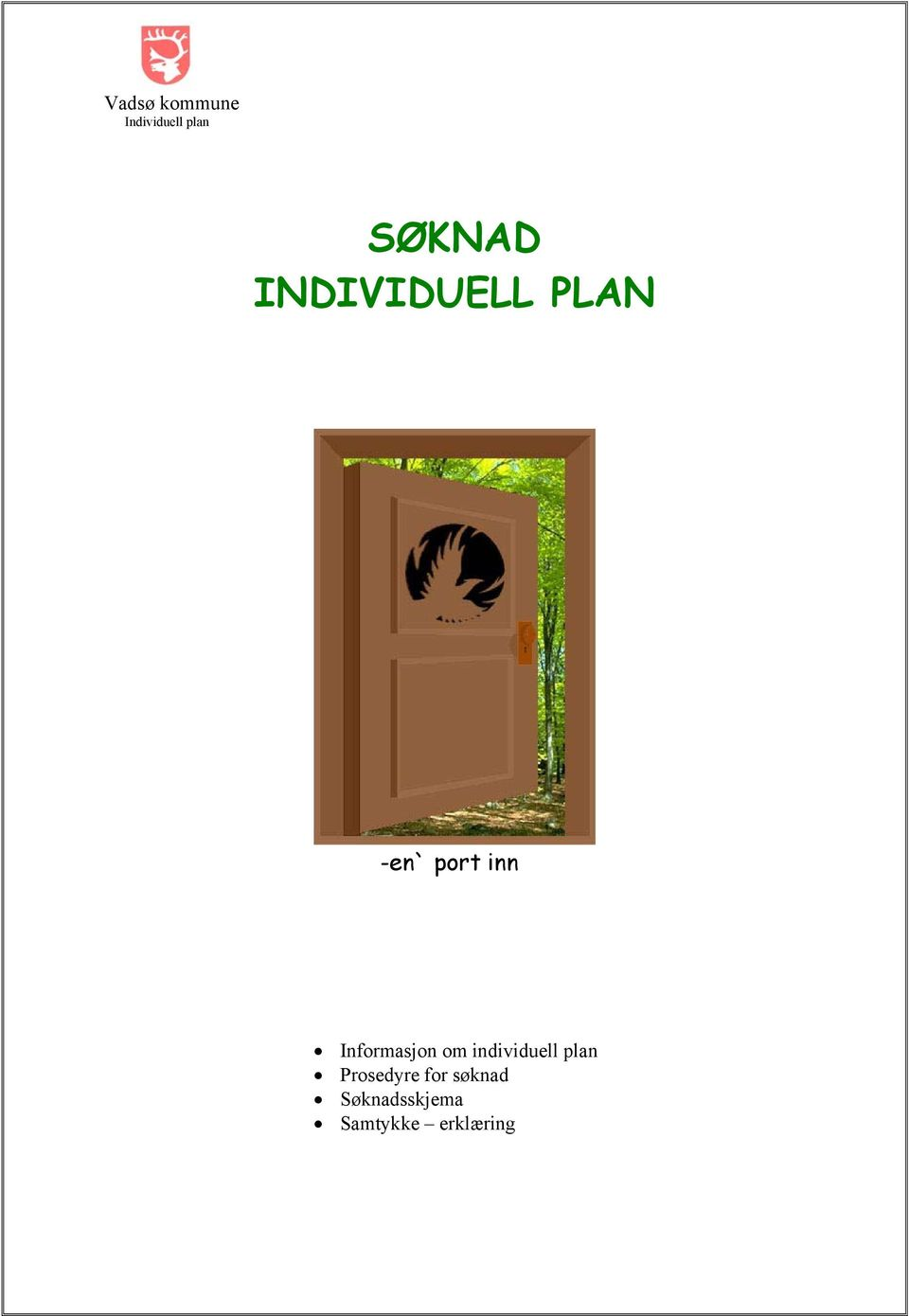 individuell plan Prosedyre for