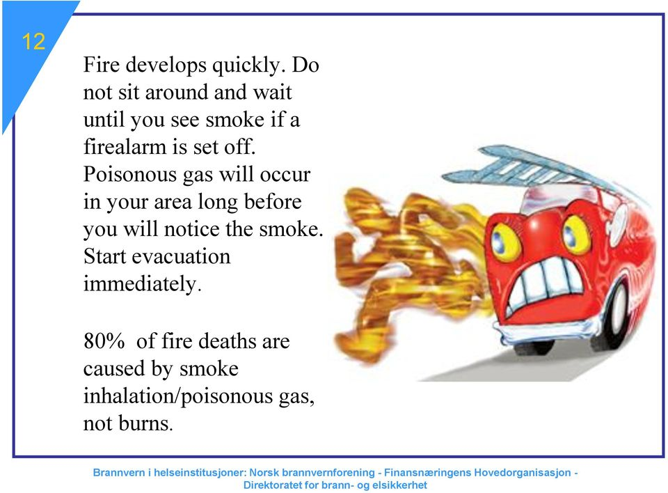 off. Poisonous gas will occur in your area long before you will notice