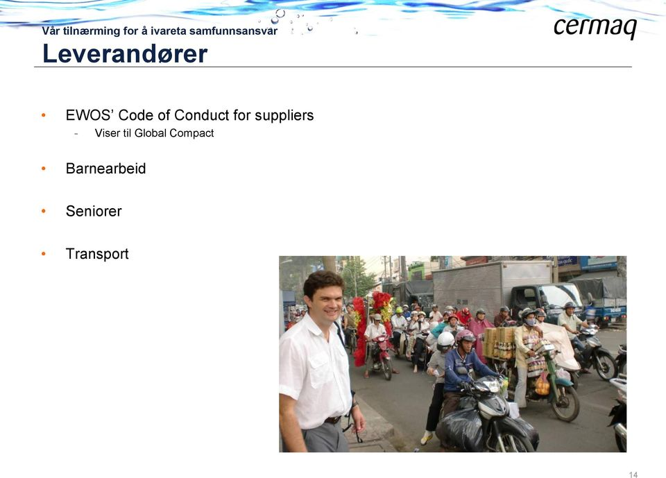 of Conduct for suppliers - Viser til