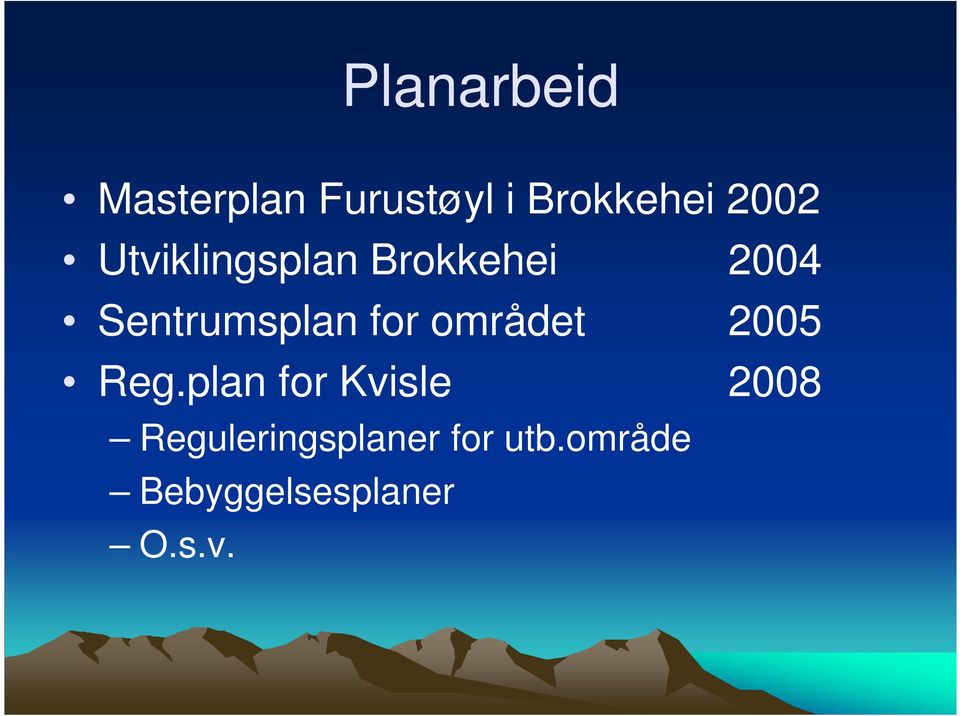 for området 2005 Reg.