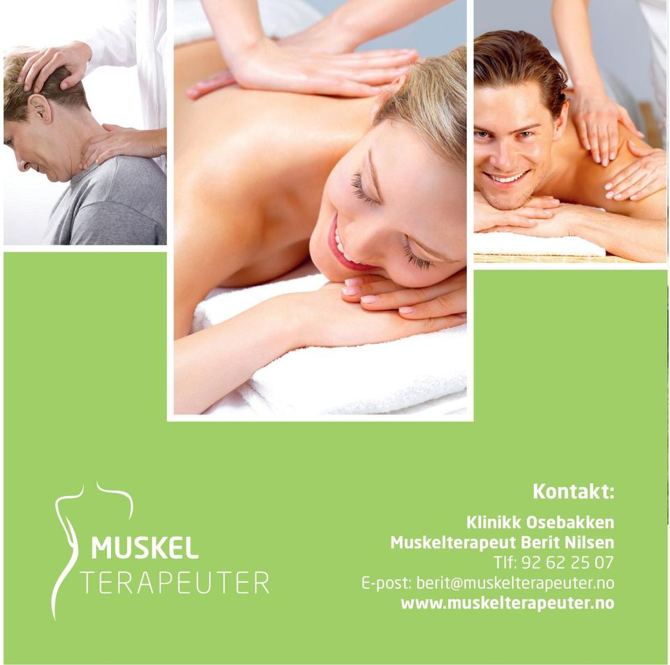 berit@muskelterapeuter.no www.