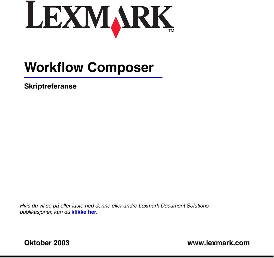 Lexmark Document Solutionspublikasjoner,