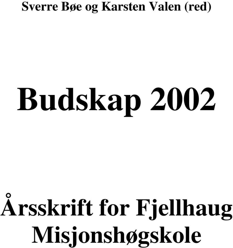 2002 Årsskrift for