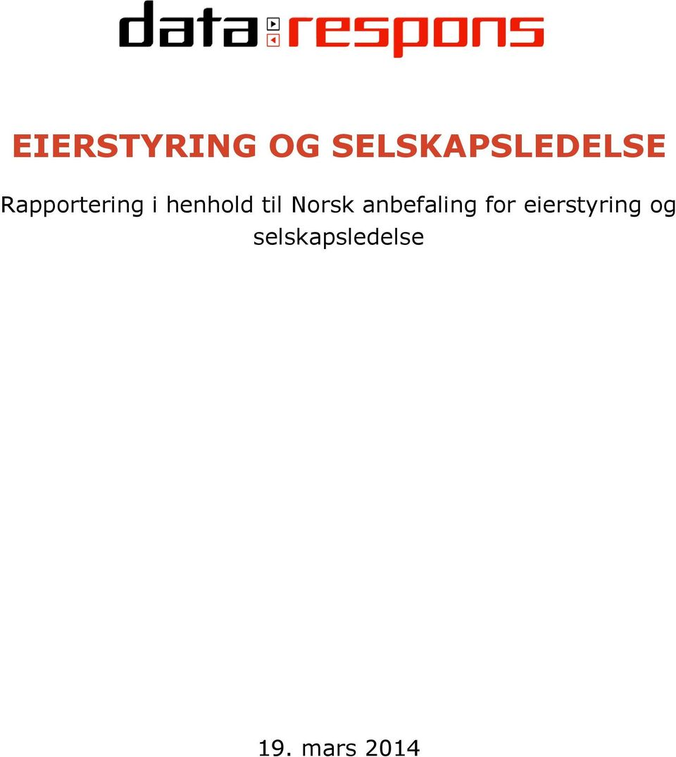 Norsk anbefaling for