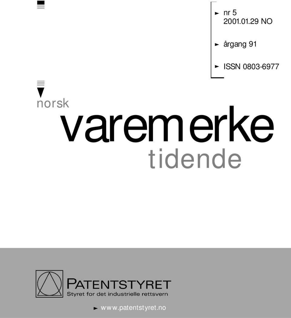 ISSN 0803-6977 norsk